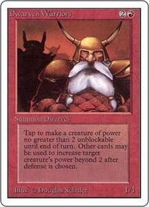 Magic the Gathering Unlimited Edition Single Card Common Dwarven Warriors