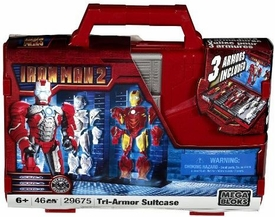 Iron Man 2 Mega Bloks Set #29675 Tri-Armor Iron Man & Suitcase