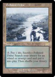 Magic the Gathering Onslaught Single Card Rare #321 Polluted Delta Slightly Played