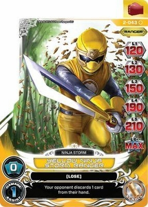 Power Rangers Action Card Game Guardians of Justice Single Card Common 2-043 Yellow Ninja Storm Ranger