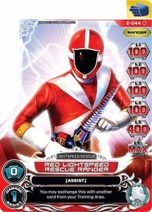 Power Rangers Action Card Game Guardians of Justice Single Card Common 2-044 Red Lightspeed Rescue Ranger
