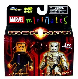Iron Man Movie Minimates Figure 2-Pack Jim Rhodes & Mark I Iron Man