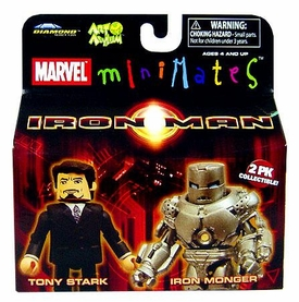 Iron Man Movie Minimates Figure 2-Pack Tony Stark & Iron Monger