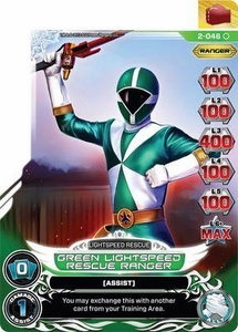 Power Rangers Action Card Game Guardians of Justice Single Card Common 2-046 Green Lightspeed Rescue Ranger