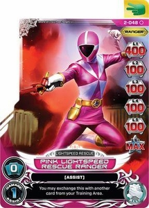 Power Rangers Action Card Game Guardians of Justice Single Card Common 2-048 Pink Lightspeed Rescue Ranger
