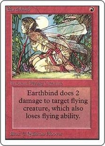 Magic the Gathering Unlimited Edition Single Card Common Earthbind