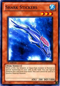 YuGiOh Zexal Photon Shockwave Single Card Common PHSW-EN009 Shark Stickers