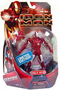 Iron Man Movie Exclusive Action Figure Iron Man [Repulsor Red Prototype] Silver Centurion!