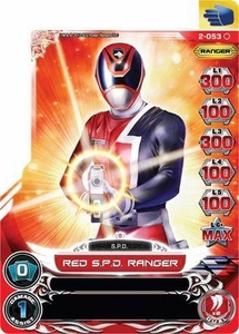 Power Rangers Action Card Game Guardians of Justice Single Card Common 2-053 Red S.P.D. Ranger