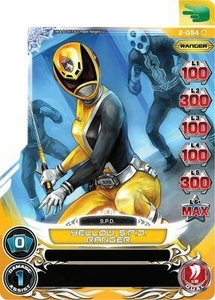 Power Rangers Action Card Game Guardians of Justice Single Card Common 2-054 Yellow S.P.D. Ranger