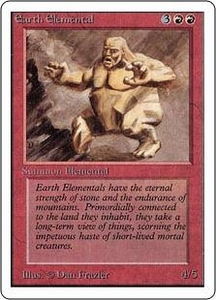 Magic the Gathering Unlimited Edition Single Card Uncommon Earth Elemental