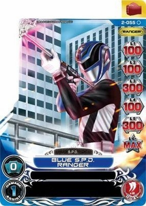 Power Rangers Action Card Game Guardians of Justice Single Card Common 2-055 Blue S.P.D. Ranger