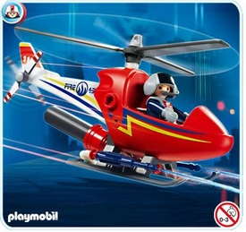 Playmobil Rescue Set #4824 Fire Fighting Helicopter