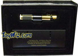 Star Wars Master Replicas .45 Scaled Replica Episode III Revenge of the Sith Yoda Lightsaber  Gold Variant