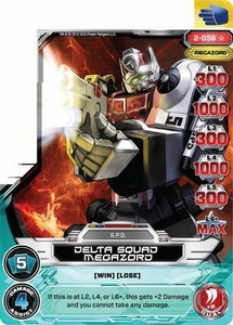 Power Rangers Action Card Game Guardians of Justice Single Card Super Rare 2-056 Delta Squad Megazord
