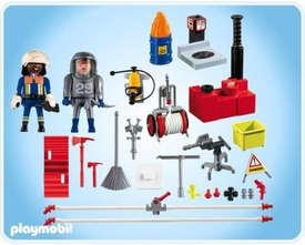 Playmobil Rescue Set #4825 Firefighter with Water Pump