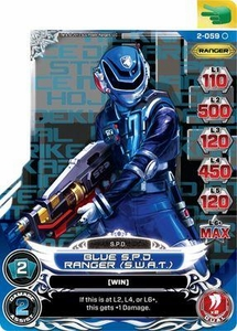 Power Rangers Action Card Game Guardians of Justice Single Card Common 2-059 Blue S.P.D. Ranger (S.W.A.T.)
