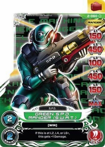 Power Rangers Action Card Game Guardians of Justice Single Card Common 2-060 Green S.P.D. Ranger (S.W.A.T.)