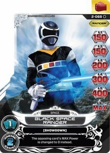Power Rangers Action Card Game Guardians of Justice Single Card Common 2-068 Black Space Ranger