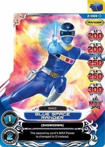 Power Rangers Action Card Game Guardians of Justice Single Card Common 2-069 Blue Space Ranger