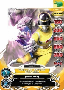 Power Rangers Action Card Game Guardians of Justice Single Card Common 2-070 Yellow Space Ranger