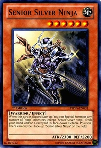 YuGiOh Zexal Photon Shockwave Single Card Common PHSW-EN031 Senior Silver Ninja