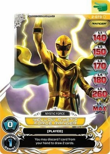 Power Rangers Action Card Game Guardians of Justice Single Card Common 2-073 Yellow Mystic Force Ranger