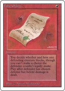 Magic the Gathering Unlimited Edition Single Card Common False Orders