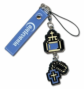 Castlevania Retro 8-Bit Cell Phone Charm Cross & Holy Water