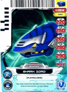 Power Rangers Action Card Game Guardians of Justice Single Card Rare 2-078 Shark Zord