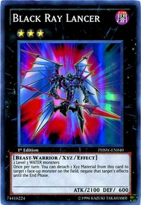 YuGiOh Zexal Photon Shockwave Single Card Super Rare PHSW-EN040 Black Ray Lancer