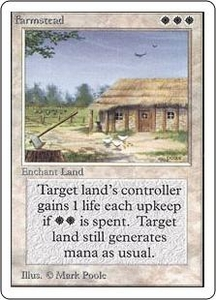 Magic the Gathering Unlimited Edition Single Card Rare Farmstead