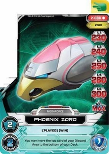 Power Rangers Action Card Game Guardians of Justice Single Card Rare 2-086 Phoenix Zord