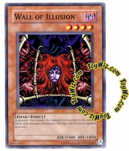YuGiOh Tournament Pack 7 Single Card Common TP7-EN014 Wall of Illusion