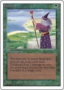 Magic the Gathering Unlimited Edition Single Card Rare Fastbond