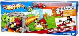 Mattel Angry Birds Hot Wheels Slingshot Launch Track Set