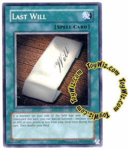 YuGiOh Tournament Pack 7 Single Card Common TP7-EN015 Last Will
