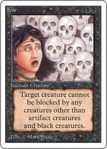 Magic the Gathering Unlimited Edition Single Card Common Fear