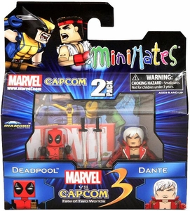 Marvel Vs Capcom 3 Minimates Series 1 Mini Figure 2-Pack Deadpool Vs. Dante