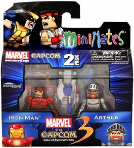 Marvel Vs Capcom 3 Minimates Series 1 Mini Figure 2-Pack Iron Man Vs. Arthur BLOWOUT SALE!