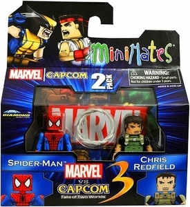 Marvel Vs Capcom 3 Minimates Series 2 Mini Figure 2-Pack Spider-Man Vs. Chris Redfield