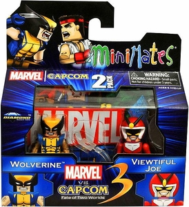Marvel Vs Capcom 3 Minimates Series 2 Mini Figure 2-Pack Wolverine Vs. Viewtiful Joe