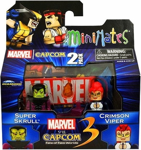 Marvel Vs Capcom 3 Minimates Series 2 Mini Figure 2-Pack Super Skrull Vs. Crimson Viper BLOWOUT SALE!