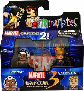 Marvel Vs Capcom 3 Minimates Series 2 Mini Figure 2-Pack Storm Vs. Jill Valentine