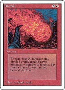 Magic the Gathering Unlimited Edition Single Card Common Fireball