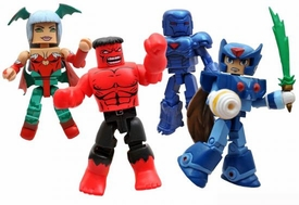 Diamond Select Toys Marvel Minimates SDCC 2011 San Diego Comic Con Exclusive 4-Pack Marvel Vs. Capcom 3 [Iron Man, Morrigan, Red Hulk & Mega Man Zero]