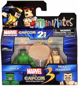 Marvel Vs Capcom 3 Minimates Series 1 Exclusive Mini Figure 2-Pack Hulk Vs. MIke Haggar