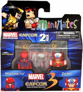 Marvel Vs Capcom 3 Minimates Series 1 Exclusive Mini Figure 2-Pack Magneto Vs. Zero