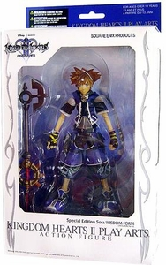Disney Square-Enix Kingdom Hearts 2 Series 1 Play Arts Exclusive Action Figure Wisdom Form Sora [Blue Special Edition]