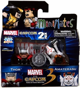 Marvel Vs Capcom 3 Minimates Series 3 Exclusive Mini Figure 2-Pack Amaterasu Vs. Thor